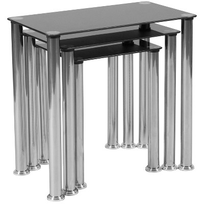 Riverside Nesting Table Black - Riverstone Furniture
