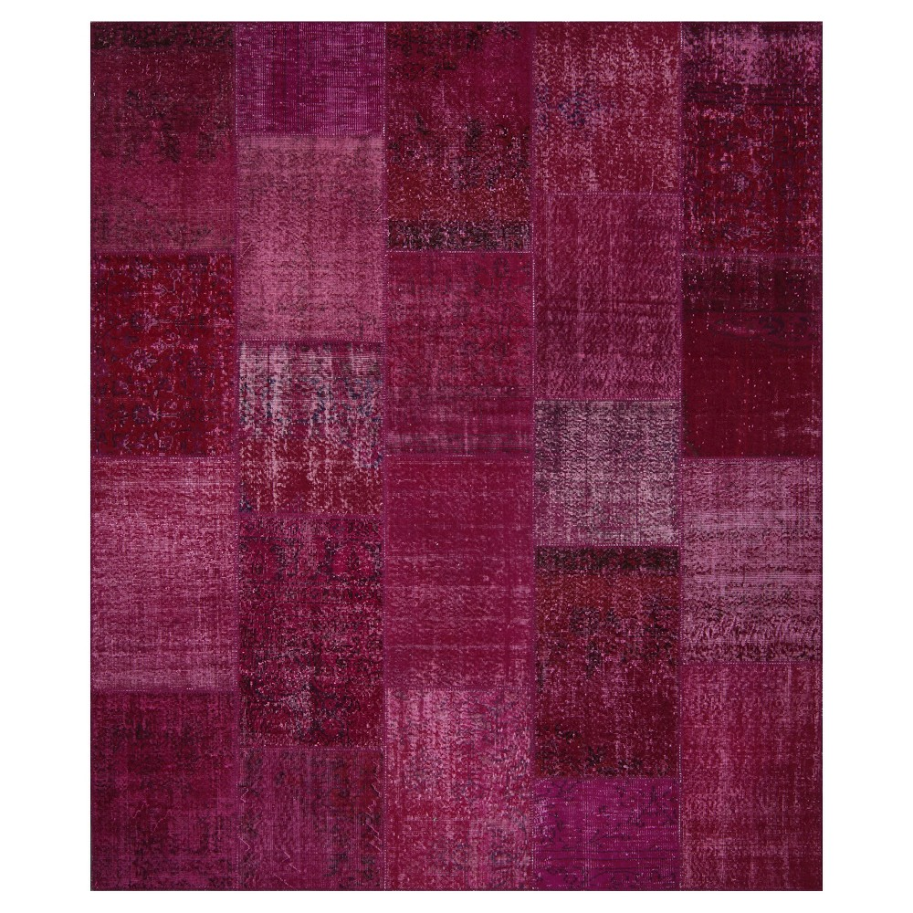 "Image of ""Antique Patchwork Area Rug Wild Pink 8'2""""x9'10"""""""