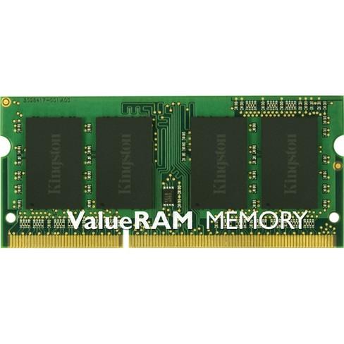 Kingston ValueRAM 4GB DDR3 SDRAM Memory Module - For Notebook - 4 GB (1 x 4 GB) - DDR3-1333/PC3-10600 DDR3 SDRAM - CL9 - 1.50 V - Non-ECC - Unbuffered - image 1 of 1