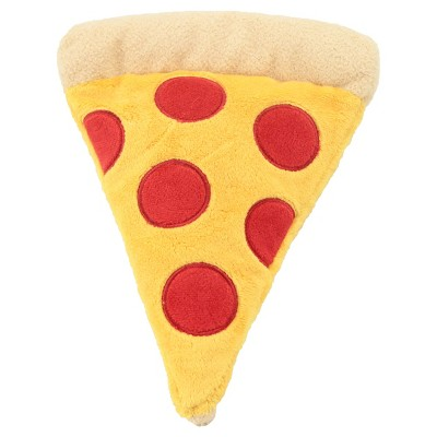 Plush Pizza with 2 Squeakers and Crinkle Dog Toy - M - Yellow - Boots & Barkley™