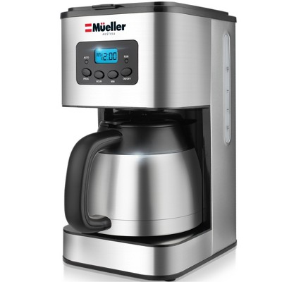 Mueller Ultra Brew Thermal Coffee Maker, 8 cup (34oz) Carafe - Gray