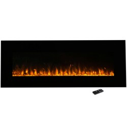 "Electric Fireplace Wall Mounted- Led Fire And Ice Flame- With Remote 54"" - Northwest"
