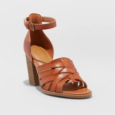 Women's Addie Faux Leather Heels   Universal Thread by Universal Thread