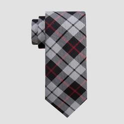 Men's Plaid Davis Tie - Goodfellow & Co™ Silver/Red One Size