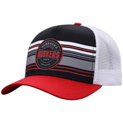 NCAA Nebraska Cornhuskers Men's Vista Black with Hard Mesh Snapback Hat