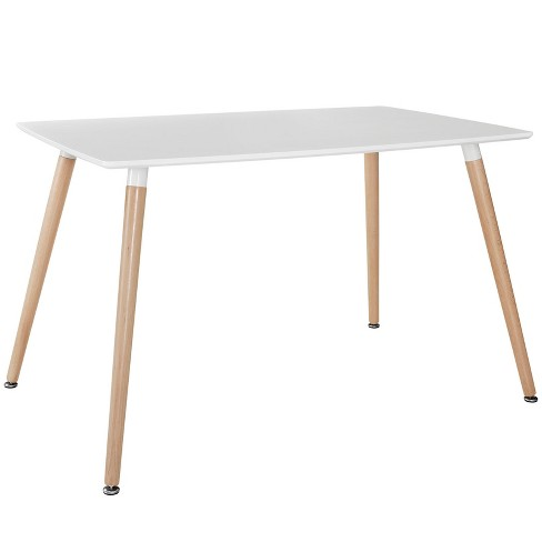 Field Rectangle Dining Table White - Modway - image 1 of 4
