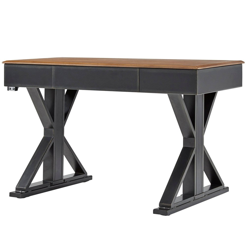 47 Quinton Adjustable Height X Base Writing Desk Brown - Inspire Q