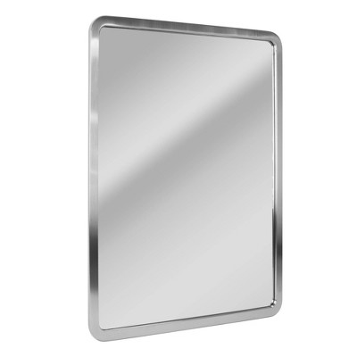 "24"" x 30"" Radius Corner Brushed Mirror Nickel - Head West"