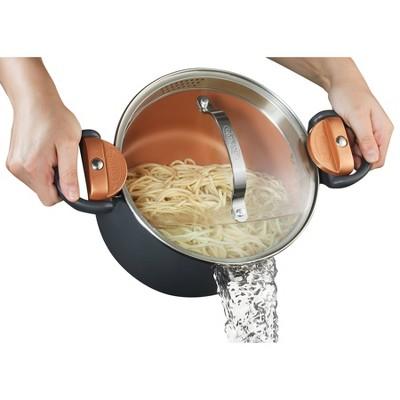 Gotham Steel Ti-cerama 5qt Pasta Pot with Strainer Lid