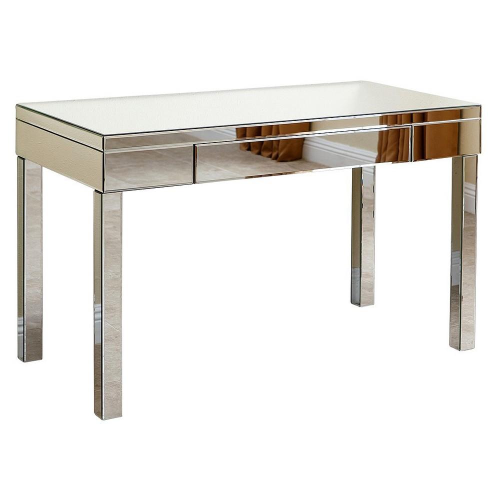 Isabelle Studio Mirrored Desk - Silver - Abbyson