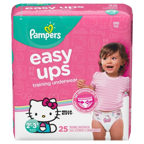 Pampers Easy Ups Girls Training Pants Jumbo Pack (Select Size) - image 1 of 10