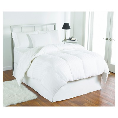 Modern Classics Striped Down Comforter Full/Queen White - LC