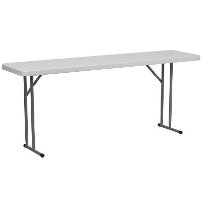 Riverstone Furniture Collection 18x72 T Fold Training Table Granite White