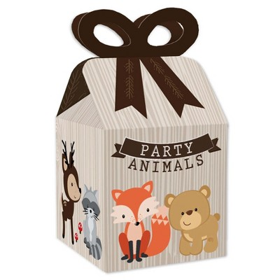 Treat Woodland Animals  Birthday Candy MINI Size Boxes PERSONALIZED SET of 12 Fully Assembled 2x2x2 Favor