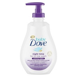 Baby Dove Calming Nights Tip-to-Toe Warm Milk & Chamomile Calming Scent Wash - 13oz