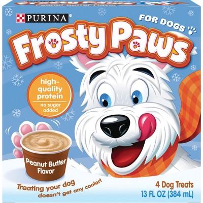 Purina Frosty Paws Peanut Butter Flavor Frozen Dog Treats - 4pk