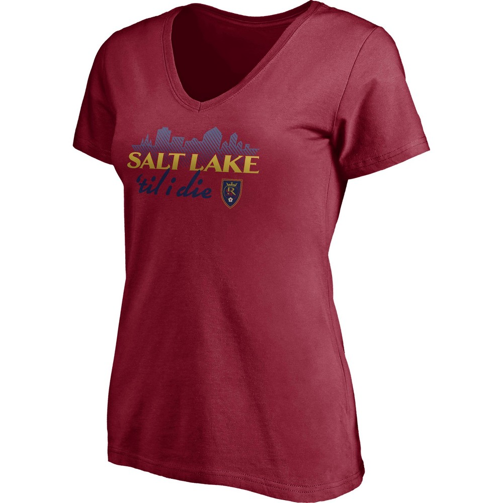 Mls Real Salt Lake Women 39 S Short Sleeve V Neck T Shirt Xxl