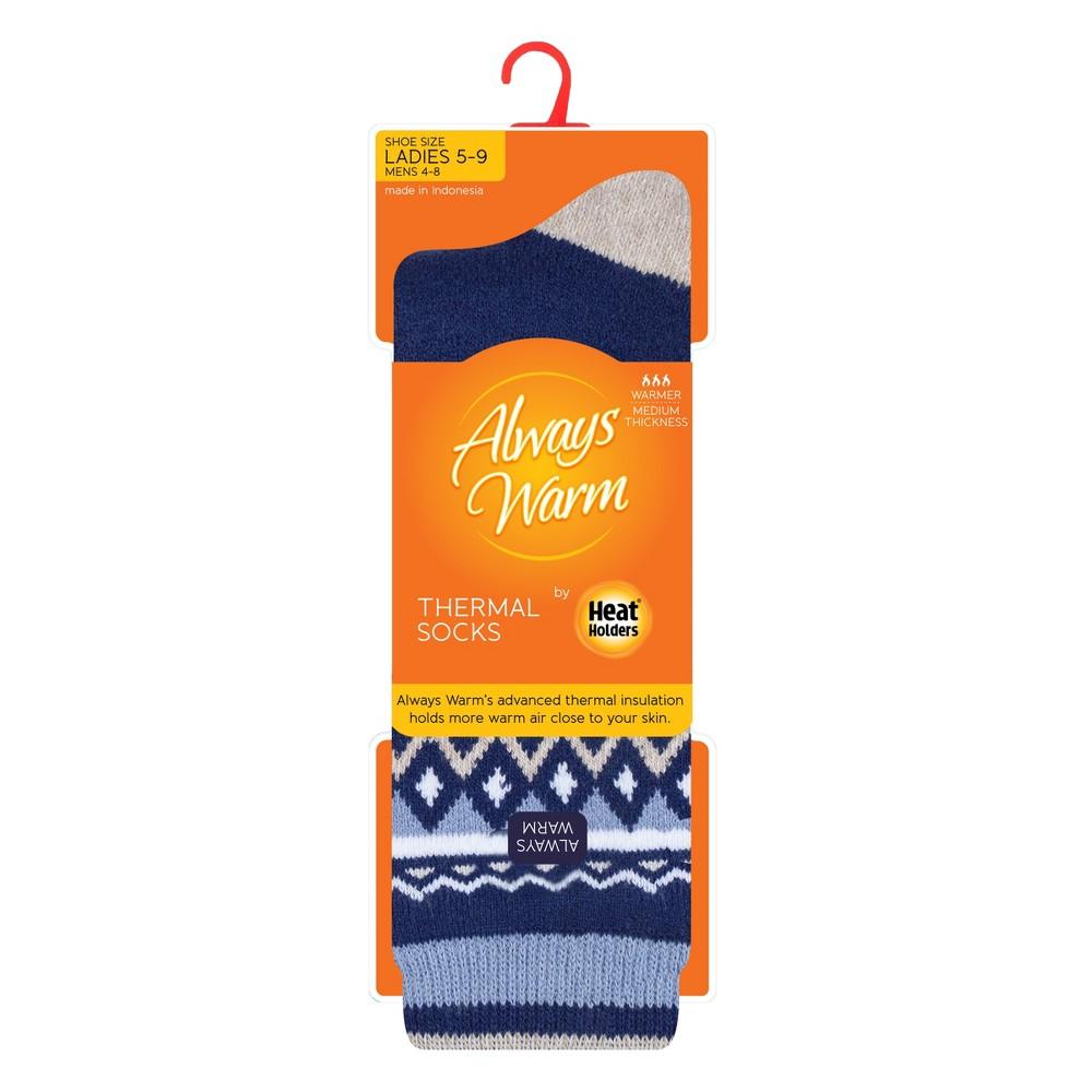 Always Warm by Heat Holders Women's 1pk Crew Socks - Navy (Blue) 5-9