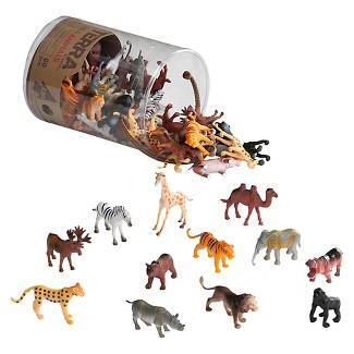TERRA – Miniature Wild Animals - Assorted Animal Playset (60 pc)