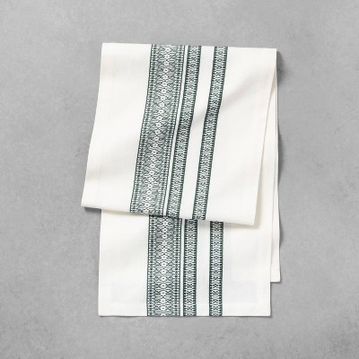 Table Runner Green Pattern - Hearth & Hand™ with Magnolia