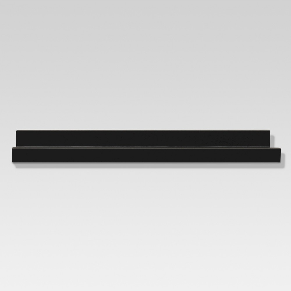 Image of Picture Ledge Wall Shelf - Black - Threshold