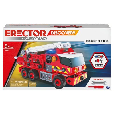 Erector by Meccano Discovery Rescue Fire Truck - Lights and Sounds STEAM Building  Kit