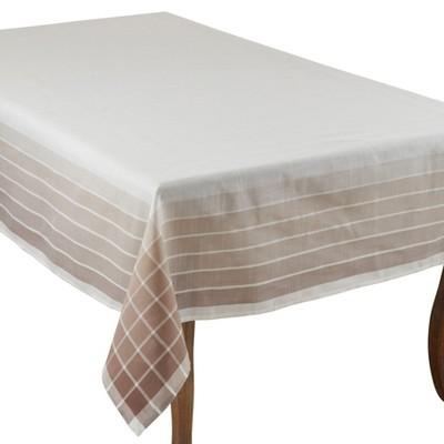 Saro Lifestyle Striped Border Tablecloth