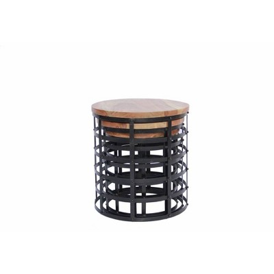 Round Nesting Coffee Tables Brown   The Urban Port