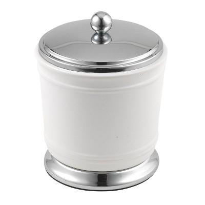 Isabella Cotton Jar White/Chrome - Popular Bath
