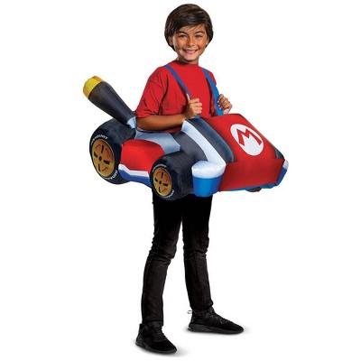 Kids' Nintendo Mario Inflatable Riding Halloween Costume Jumpsuit One Size