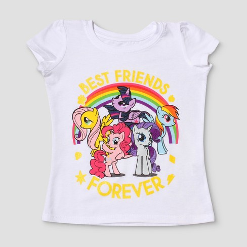 Toddler Girls' My Little Pony® Short Sleeve T-Shirt - White - image 1 of 2