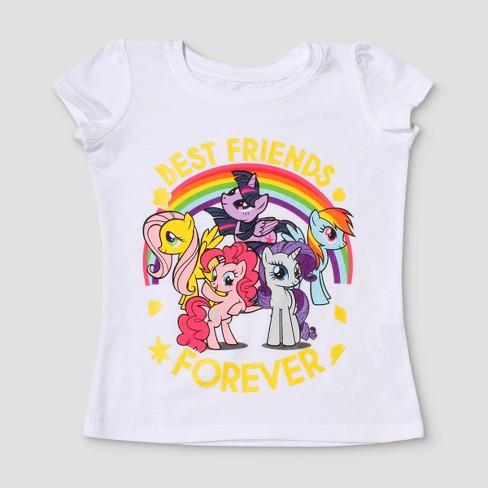 Toddler Girls' My Little Pony® Short Sleeve T-Shirt - White - image 1 of 2