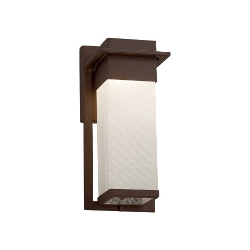 """Justice Design Group FSN-7541W-WEVE Fusion Single Light 12"""" High Integrated 3000K LED Outdoor Wall Sconce - image 1 of 1"""