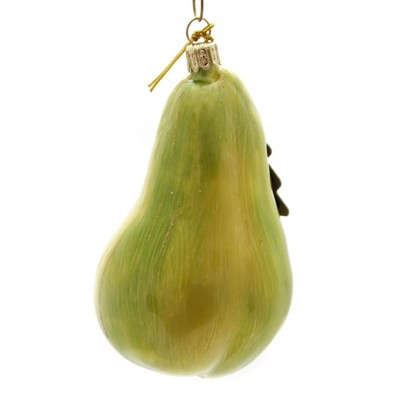 """Holiday Ornaments 4.0"""" Green Pear Poland Hand Painted  -  Tree Ornaments"""