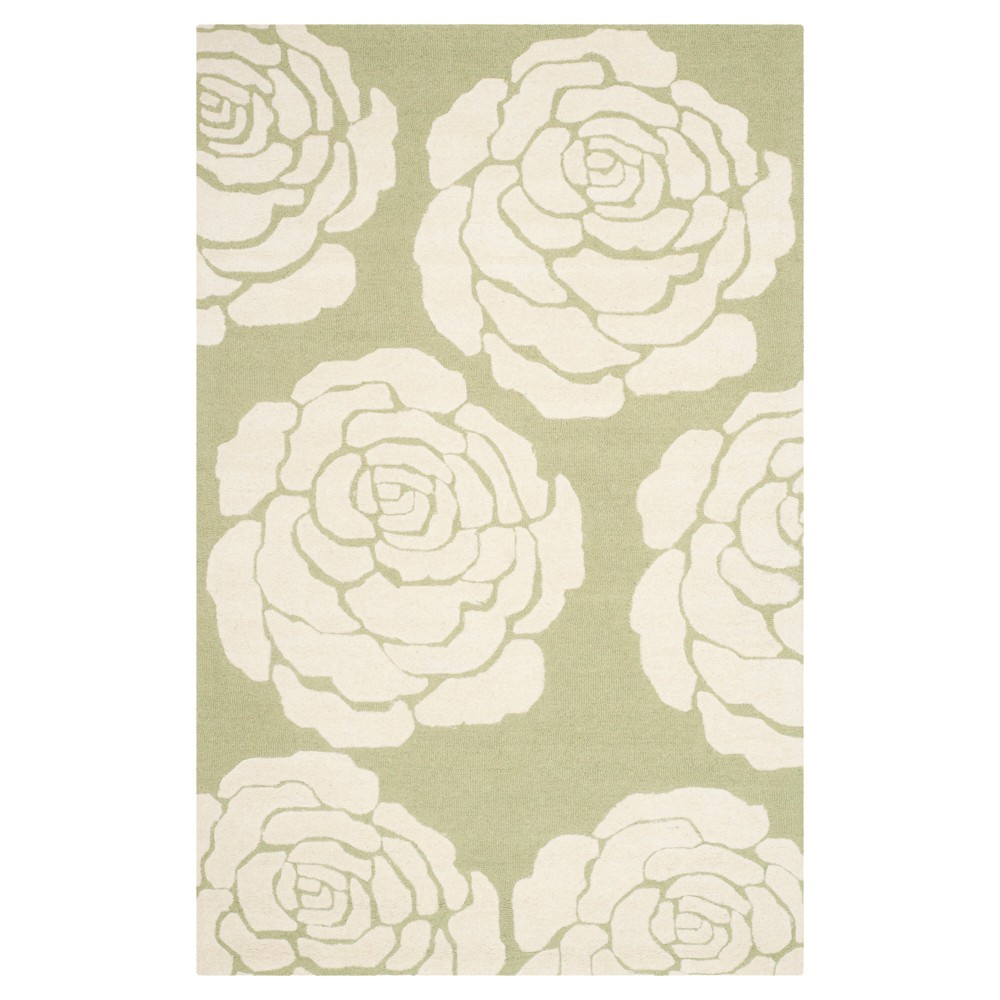 Connor Area Rug - Lime / Ivory (8' x 10') - Safavieh, Green/Ivory
