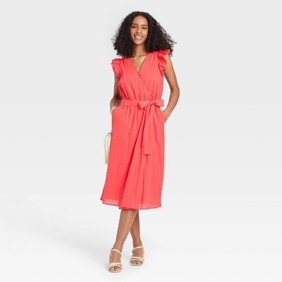Women's Ruffle Short Sleeve Dress - A New Day™