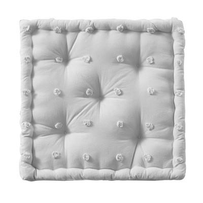 """20""""x20"""" Kay Cotton Jacquard Floor Pillow Gray"""