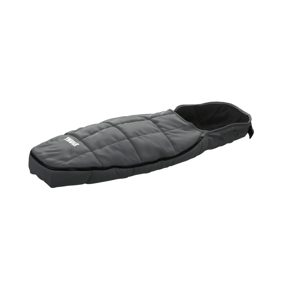 Thule Footmuff Sport - Gray Insulated for warmth with a fleece liner and adjustable hood. Thule's multifunctional child carriers are one of the highest performing and most versatile products on the market allowing you to enjoy multiple activities year round. With the Chariot family of multifunctional child carriers, Thule has more than 20 years experience of child carry solutions. Color: Gray. Gender: Unisex.