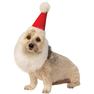Rubies Santa Hat With Beard Pet Costume
