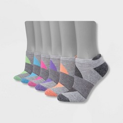 Hanes Performance Women's Cushioned 6pk No Show Tab Athletic Socks 5-9