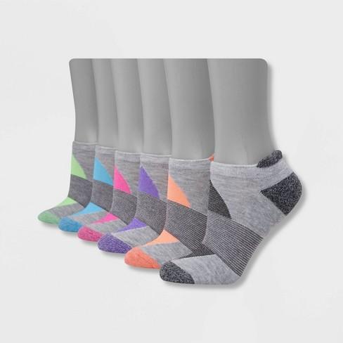Hanes Performance Women's Cushioned 6pk No Show Tab Athletic Socks 5-9 :  Target