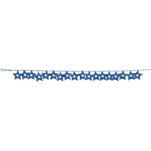 Blue Stars Foil Garland - image 1 of 2
