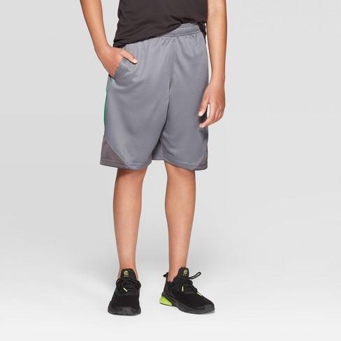 Boys' Core Basketball Shorts - C9 Champion® Medium Gray - image 1 of 3