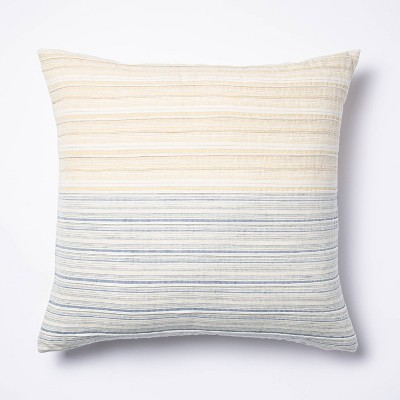 Pleated Square Throw Pillow Yellow/Blue - Threshold™ designed with Studio McGee