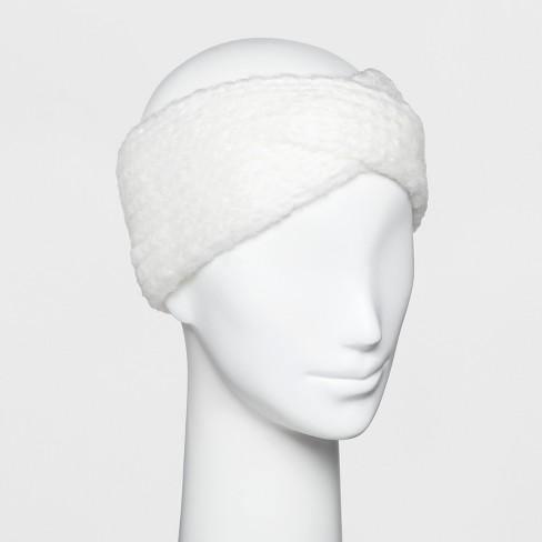 62ee6734291 Women s Knit Crossover Headband - A New Day™ Cream   Target