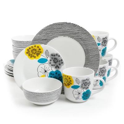 Gibson Home 16pc Ceramic Marigold Dinnerware Set