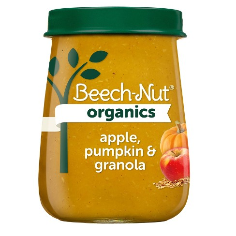 Beech-Nut Organics Apple Pumpkin & Granola Baby Food Jar - 4oz - image 1 of 3
