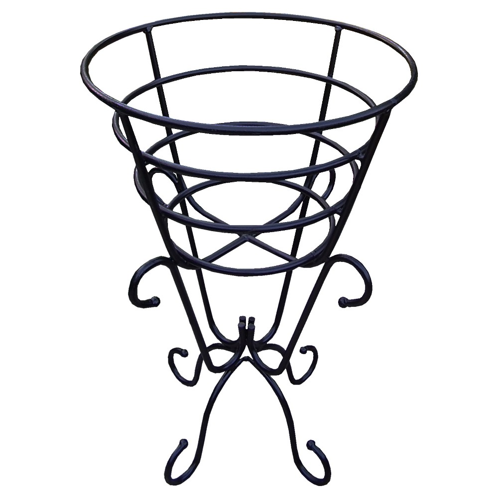 "Image of ""19"""" Oakland Plant Stand - Black"""