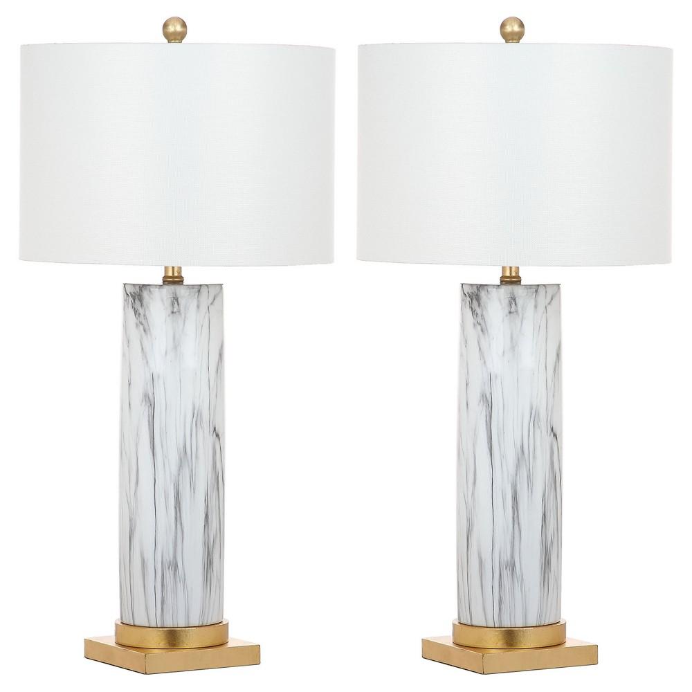 Image of Abner Table Lamp - White - Safavieh
