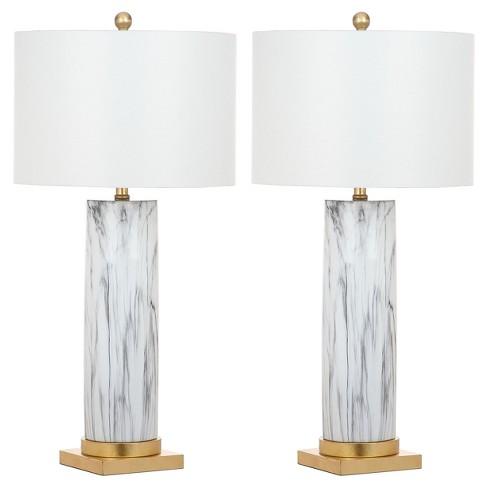 Abner Table Lamp - White - Safavieh - image 1 of 3